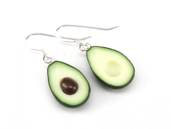 Avokado örhängen bild