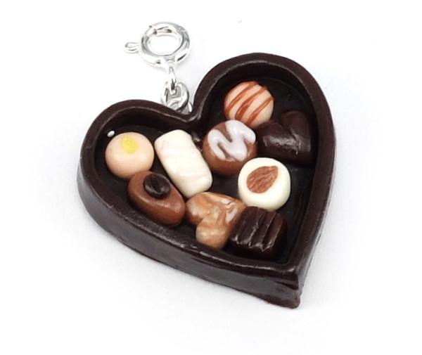 Chokladask - hjärta halsband bild