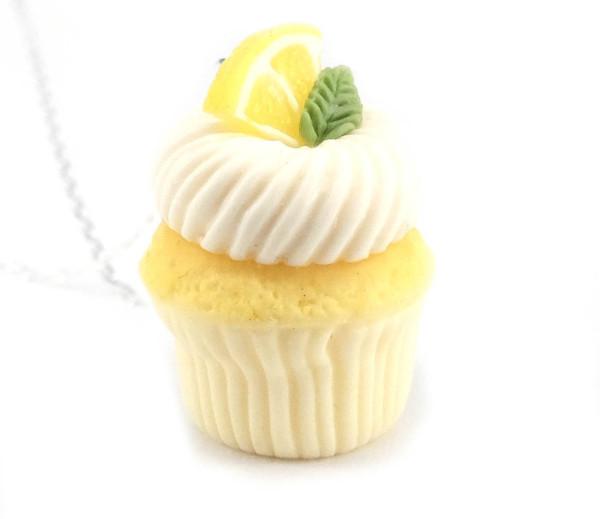 Cupcake halsband - citron bild