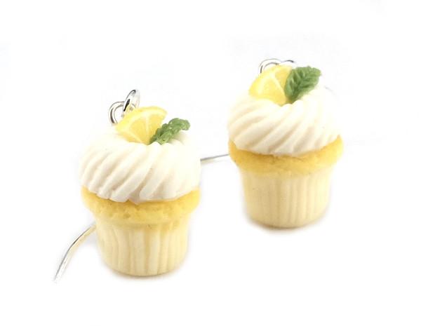Cupcake örhängen - citron bild