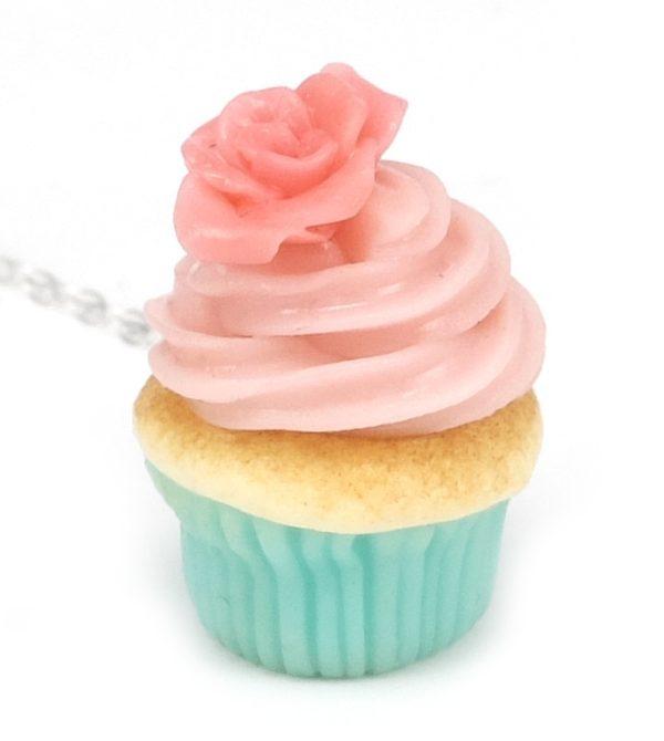 Cupcake halsband - Pink flower bild