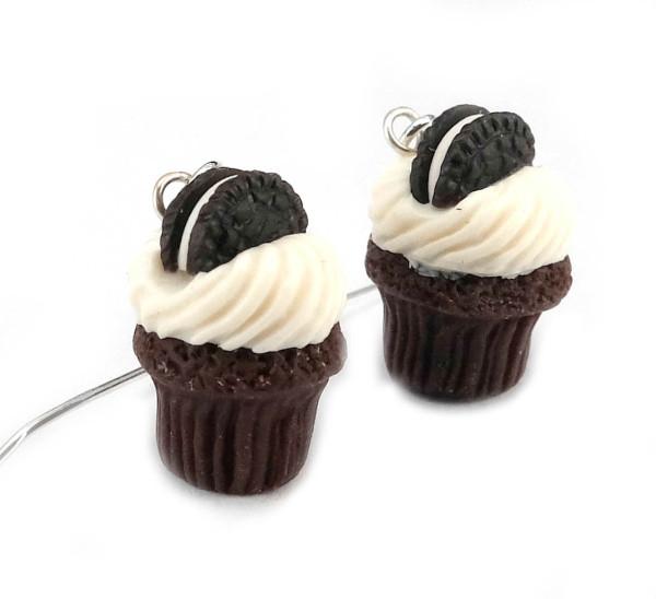 Cupcake örhängen - oreo bild