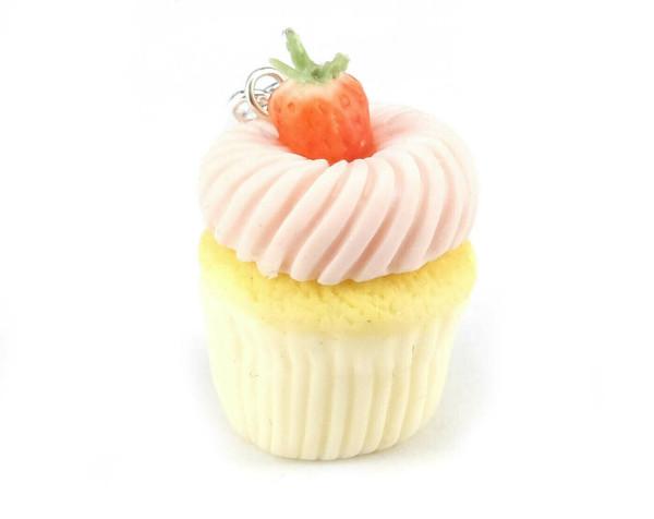 Cupcake berlock jordgubbe - STOR bild