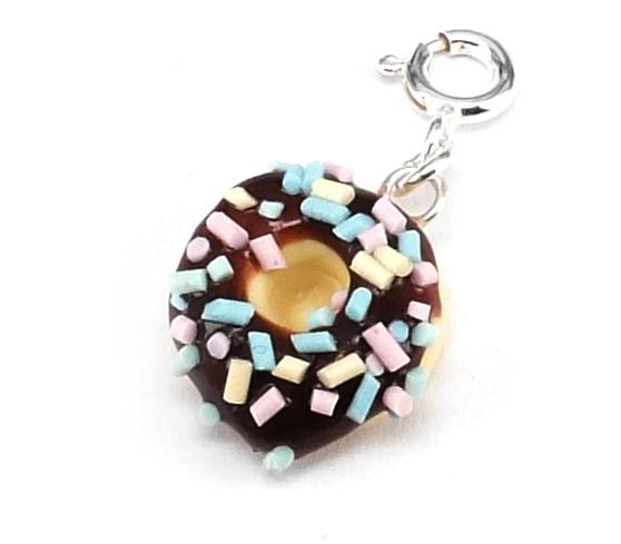 Donut berlock med chokladglasyr bild