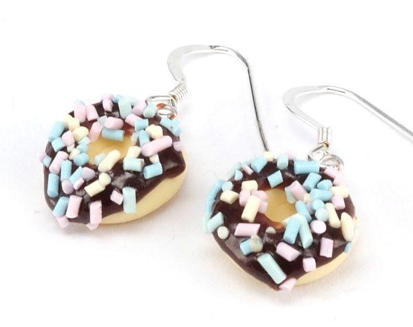 Donut örhängen choklad bild