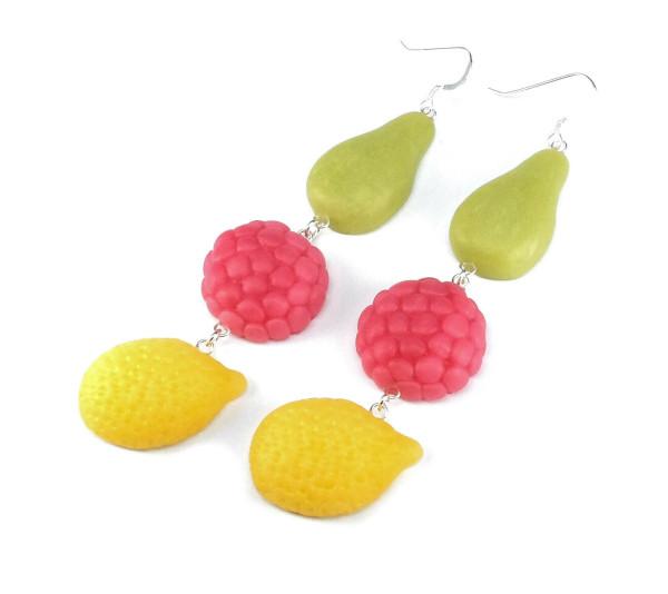 Fruktgodis örhängen bild