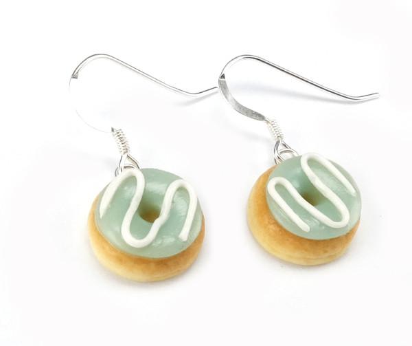 Donut örhängen - Mint glasyr bild