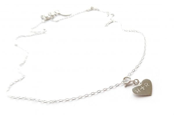 Namnsmycke hjärta silver 12mm med namn - halsband bild