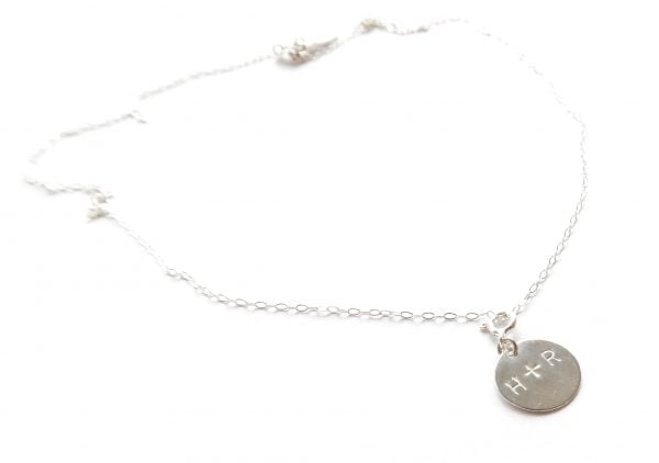 Namnsmycke rund silver 13mm med namn - halsband bild