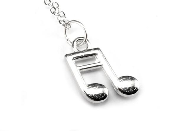 Not halsband - silverfärg bild