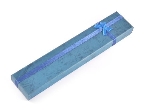 Presentask avlång mörkblå 20x4x2 cm bild