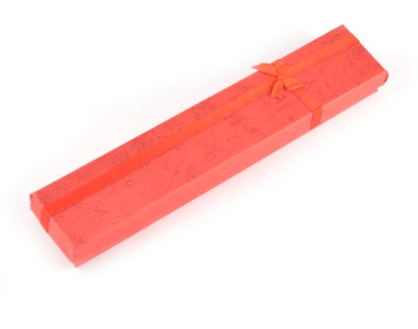 Presentask avlång röd 20x4x2 cm bild