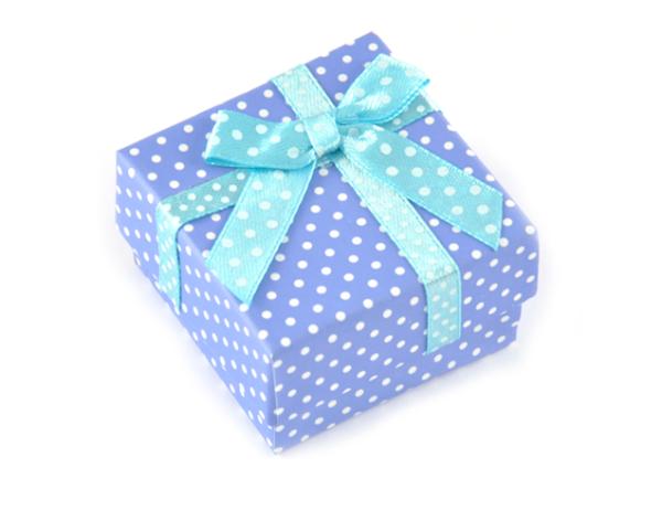 Presentask prickig blå 5x5x3 cm bild
