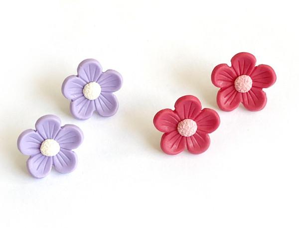 Retro blomma - stiftörhängen bild