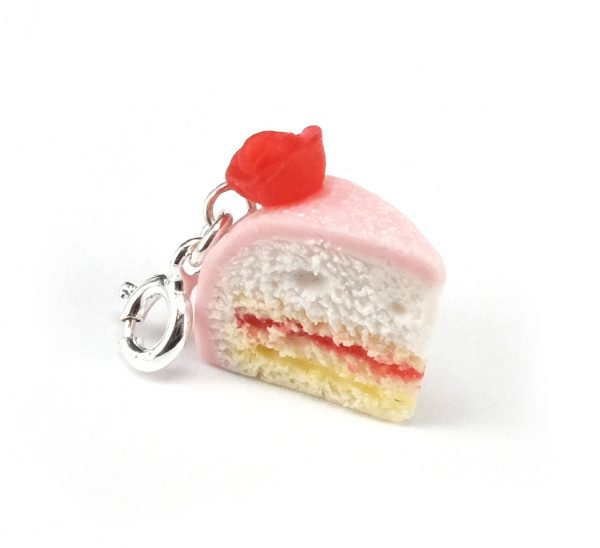 Rosa prinsesstårta berlock bild