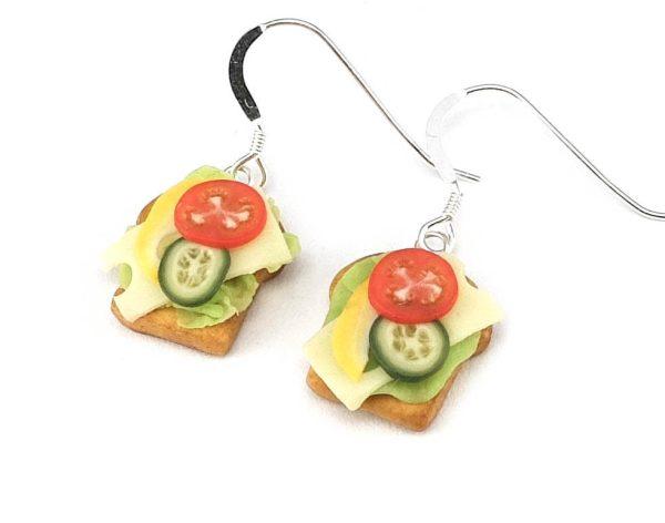 Smörgås med pålägg - örhängen bild