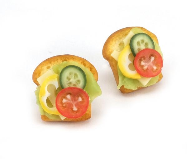 Smörgås med pålägg - stiftörhängen bild