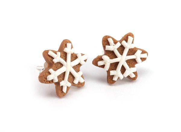 Pepparkakor snöflingor - Stiftörhängen bild