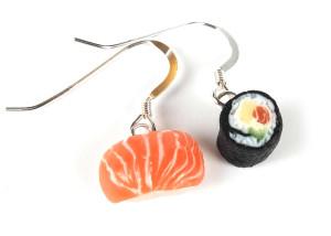 Sushi lax & maki - Örhängen bild